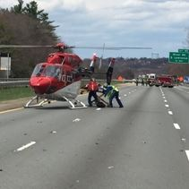 Andover Fire Rescue personnel respond to a multi-vehicle crash on Route 93 North.