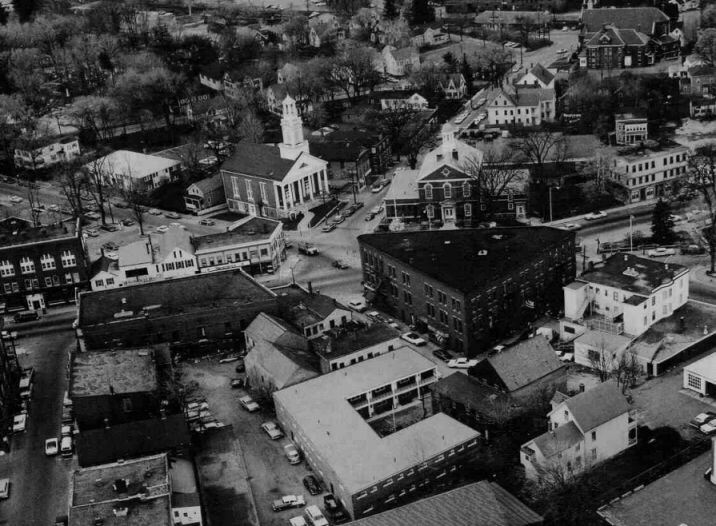 Bird's Eye View of Elm Square Circa 1966